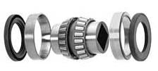 "AL13678SD  1 1/8"" square bore double tapered roller bearing with 2 races and 2 seals"