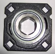 Assembly (housing with 210RRB6 bearing)for John Deere Round balers 385,  430, 435, 448, 456, 457, 458, 466, 467, 530, 535, 556, 557, 566, 567,  Replaces