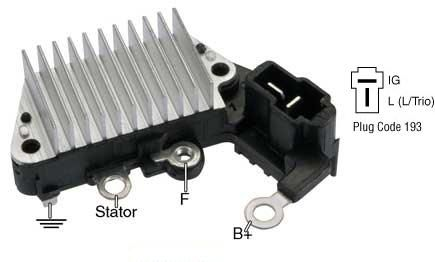 Massey Ferguson Voltage Regulator 1125, 1140, 1145, 1240, 1250, 1260 with Alternator 3704212M91